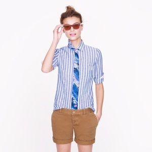 J.Crew Boy ShIrt in Stripe Linen